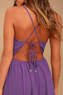 Everything's All Bright Purple Backless Maxi Dress 5