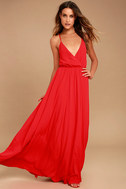 Everything's All Bright Red Backless Maxi Dress 1