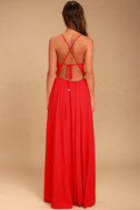 Everything's All Bright Red Backless Maxi Dress 4