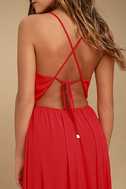 Everything's All Bright Red Backless Maxi Dress 5
