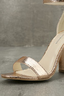 Glamorous Ceara Rose Gold Ankle Strap Heels 6