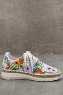 Free People Jackson White Tropical Print Espadrille Sneakers 4