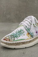 Free People Jackson White Tropical Print Espadrille Sneakers 6