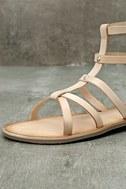 Rebels Florence Natural Leather Gladiator Sandals 6