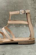 Rebels Florence Natural Leather Gladiator Sandals 7