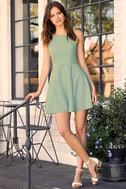 Call to Charms Sage Green Skater Dress 2