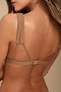 Blue Life Roped Up Brown Bikini Top 5