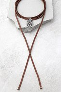 Mojave Magic Gold and Brown Rhinestone Wrap Necklace 1