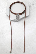 Mojave Magic Gold and Brown Rhinestone Wrap Necklace 2