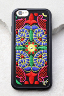 Wildflower Georgette Two Black Embroidered iPhone 6 and 6s Case 1