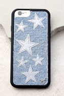 Wildflower Star Vintage Denim and Silver iPhone 6 and 6s Case 1