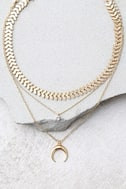 Child of the Wild Gold Layered Choker Necklace Set 2
