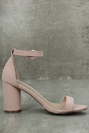Elettra Blush Nubuck Ankle Strap Heels 4