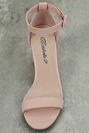 Elettra Blush Nubuck Ankle Strap Heels 5