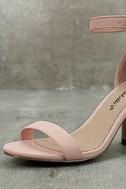 Elettra Blush Nubuck Ankle Strap Heels 6