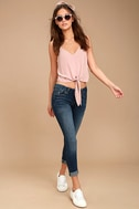 Greta Medium Wash Distressed Skinny Jeans 1