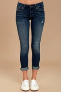 Greta Medium Wash Distressed Skinny Jeans 2