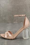 Aida Blush Patent Lucite Heels 2