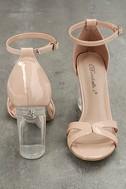 Aida Blush Patent Lucite Heels 3