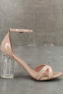 Aida Blush Patent Lucite Heels 4