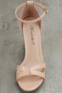 Aida Blush Patent Lucite Heels 5