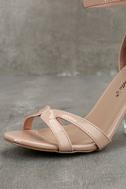 Aida Blush Patent Lucite Heels 6