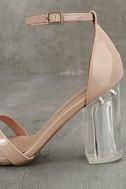 Aida Blush Patent Lucite Heels 7