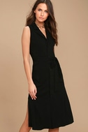 Rock Steady Black Shirt Dress 1