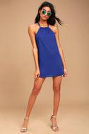 Breezy Street Royal Blue Halter Dress 2