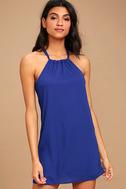 Breezy Street Royal Blue Halter Dress 3
