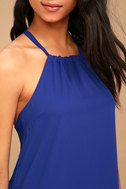 Breezy Street Royal Blue Halter Dress 5