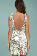 Mink Pink Sweet Escape Mint Green Floral Print Dress 4