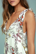 Mink Pink Sweet Escape Mint Green Floral Print Dress 5