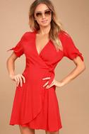 My Philosophy Red Wrap Dress 1