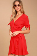 My Philosophy Red Wrap Dress 3