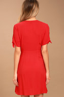 My Philosophy Red Wrap Dress 4