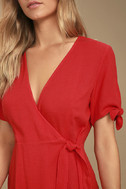 My Philosophy Red Wrap Dress 5