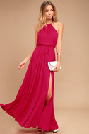 Essence of Style Berry Pink Maxi Dress 1