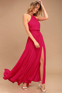 Essence of Style Berry Pink Maxi Dress 2