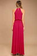 Essence of Style Berry Pink Maxi Dress 4