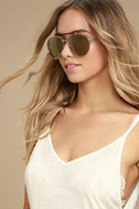 Skyward Gold Mirrored Aviator Sunglasses 1
