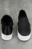 Magara Black Satin Flatform Slip-On Sneakers 2