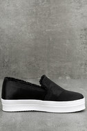 Magara Black Satin Flatform Slip-On Sneakers 3