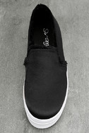 Magara Black Satin Flatform Slip-On Sneakers 4