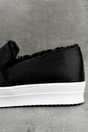 Magara Black Satin Flatform Slip-On Sneakers 6