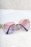 Clementine Gold and Pink Sunglasses 1