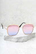 Clementine Gold and Pink Sunglasses 2