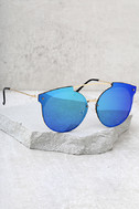 Now or Never Gold and Green Mirrored Sunglasses 2