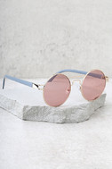 Yoko Gold and Pink Round Sunglasses 2