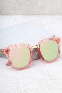 Revelery Pink Mirrored Sunglasses 1